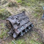 Engine spotted in the middle of the woods.  How it got there, is a bit of a mystery.