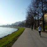 Brian heading out for a morning run along the Salzach River