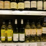 New Zealand wine in a German supermarket.  At 6 Euro it's considerably cheaper here than in NZ