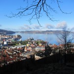 View of Bergen near base of Stolzekleiven