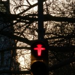 Iconic Berlinese traffic lights