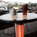 But still freezing.  Outside waterfront tables, had heaters built into the table legs.  Nice.