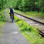 Cycling along the old rail trail