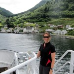 On the bus ferry crossing the Hardanger Fjord