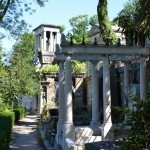 Some of the many tombstones in Pere Lanchaise the sprawling Parisan 'who's who' cemetary