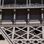There are 72 names on the Eiffel tower all of notable French scientists and engineers.  Full list here> http://en.wikipedia.org/wiki/List_of_the_72_names_on_the_Eiffel_Tower
