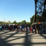 Queues to climb the 1600 steps of the Eiffel Tower.  In 34C heat.  Nutters.