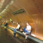 Just another Parisian subway station, designed in steam punk style after the works of Jules Verne: http://en.wikipedia.org/wiki/Arts_et_M%C3%A9tiers_(Paris_M%C3%A9tro)