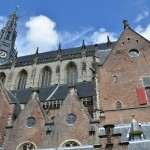Cathedral in Haarlem town square