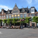 Town square in Haarlem, perfect spot for a cold drink after a cycle ride