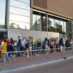 Queue to Anne Frank's house in Amsterdam