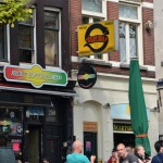 """""""Coffee Shop"""". In Amsterdam a 'coffee shop' is a legalized establishment where you are allowed to buy and smoke marijuana. You can usually spot them by their rastafarian colours, and giggling middle-aged English women outside."""