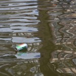 Litter on the canals