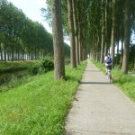 Following the canal to The Netherlands