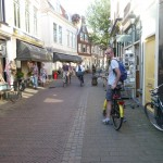 Cycling through the streets of Haarlem