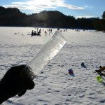Brian's icicle - A favourite winter activity of children seems to involve collecting icicles and suckling on them, while following their parents through wilderness.