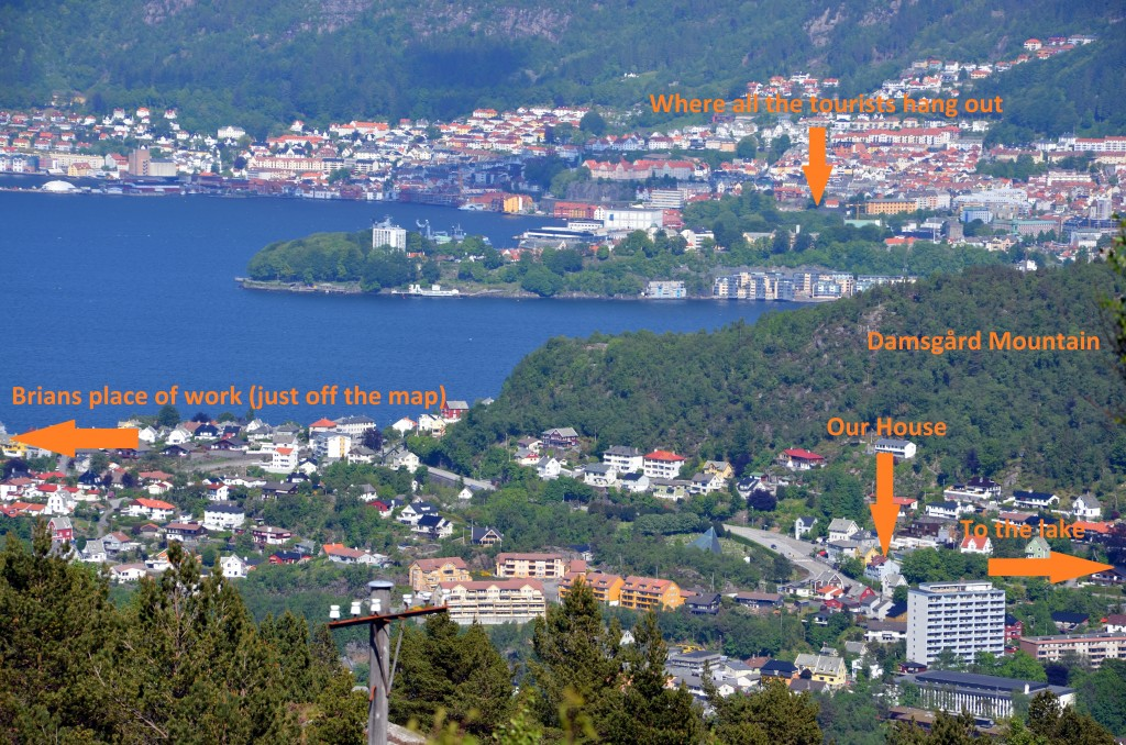 View back into town.  Click to enlarge. I did the arrows in MS Paint, hence the typo (no way I redoing that to correct)
