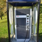 Electric car charging station.  And free too!