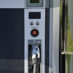 Close up of electric car charger