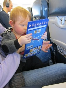 Studying the safety manual for the A319 heading from Bergen to London