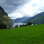 Farming pastures overlooking Flam