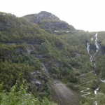 Hairpin service road to Flam