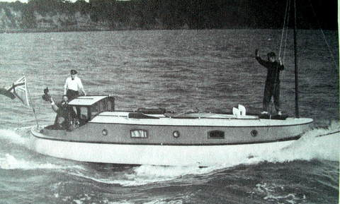 Power boat, von Luckner used to escape from Motuhie Island to the Coromandel
